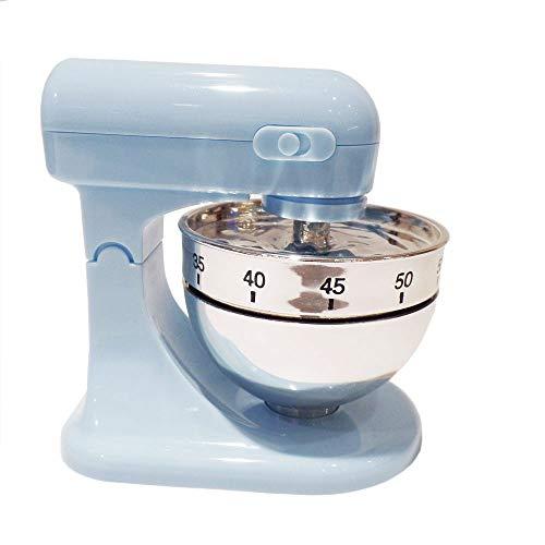 Eieruhr Kurzzeitwecker Küchentimer Küchenmaschine Mixer Design, Kunststoff, pastellblau, 1 Stück