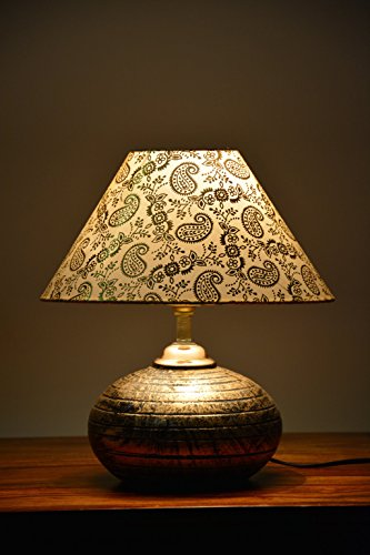 Beverly studio 10 inches designer shade terracotta table lamp