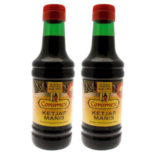 Conimex Ketjap Manis, süße indonesische Sojasauce, Soja, Sauce, Gewürze, 2 x 250 ml