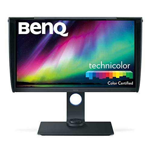 BenQ SW271 Écran Photographes 27 Pouces,  4K 3840 x 2160, HDR, 99% Adobe RGB, 100%  sRGB, Rec.709, DCI-P3, Calibrage Hardware, IPS,LUT 3D en 14 bits, GamutDuo, USB Type-C, HDMI