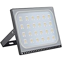 Awhao Reflector LED Foco proyector LED 10W 20W 30W 50W 100W 150W 200W 300W 500W para exteriores, resistente al agua IP65, luz de seguridad,IP65 Impermeable ,Diseño ultraligero ultrafino (150WB)