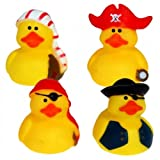 12er Pack Badeente Piraten 5cm