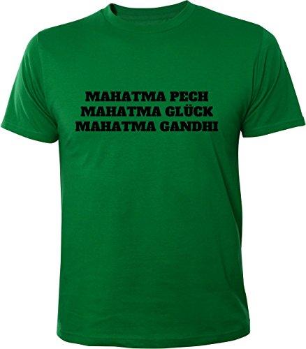 Mister Merchandise Cooles Herren T-Shirt Mahatma Pech Glück Gandhi mal hat man Grün