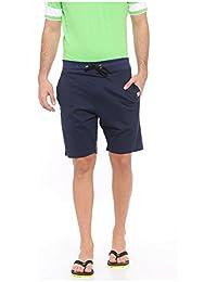 TOJ Navy Solid Cotton Premium Cotton Shorts For Men (Pack Of 1)