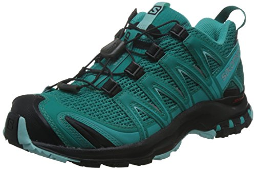 Salomon XA Pro 3D Damen Traillaufschuhe, Deep Peacock Blue/Black/Aruba Blue, 37 1/3 EU (Running-schuh Trail Ultra 3d)