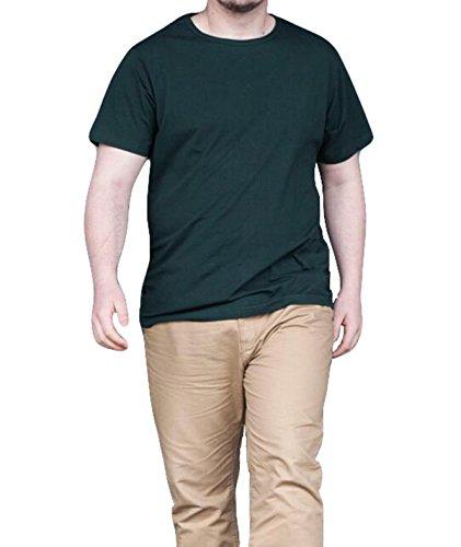 Männer Sommer Lose Kurzhülse Einfach Und Elegant Groß Einfarbig Baumwolle Kurzarm-T-Shirt White
