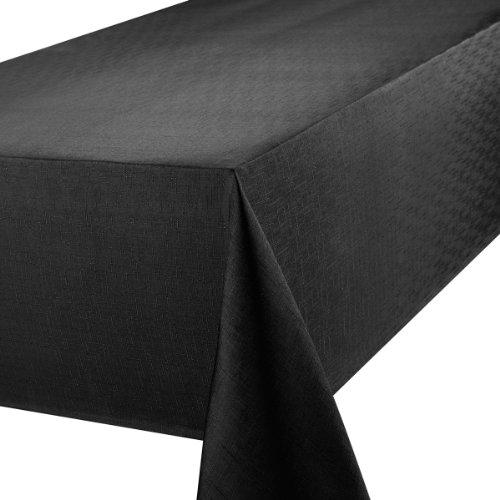 Premier 52 x 90-inch Linen Look Oblong Tablecloth, Black