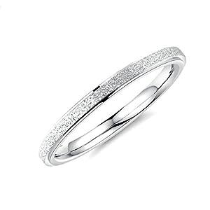 Aienid Hochzeitsring Titan Ring for Damen Ring Schmale Kreismatte Vertrauensring Verlobungsring