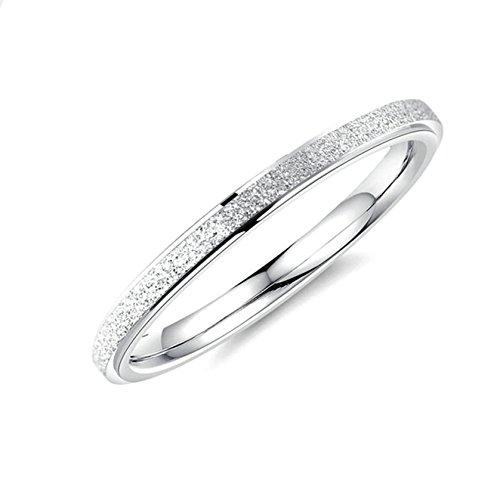 Aienid gioielli titanio anello levigatura ad anello fine anello argento donna size:12