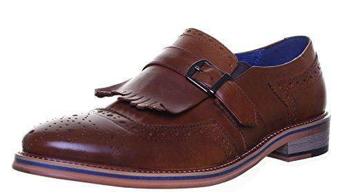 Justin Reece Carl Matt Chaussures en cuir pour homme Marron - Brown FA