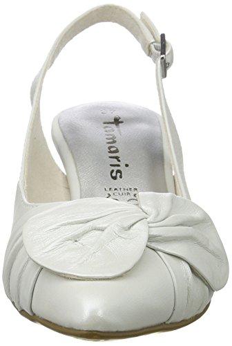 Tamaris 29612, Sandales Compensées Femme Blanc (blanc 100)