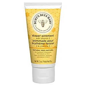 Burt's Bees 100% Natürlich pflegende Windelcreme, Babyhaut Wundsalbe gegen Windelausschlage,  1er Pack 85 g