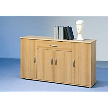 sideboard kommode anrichte mehrzweckschrank highboard schrank lilly 13 in buche mit 4 t ren 1. Black Bedroom Furniture Sets. Home Design Ideas