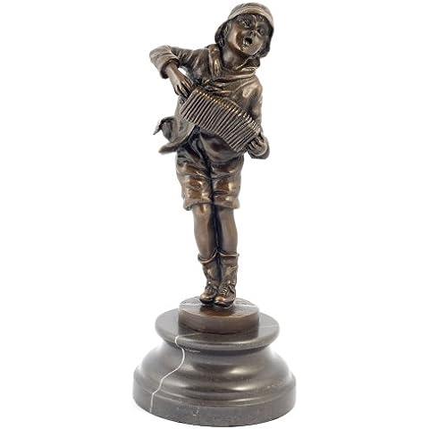 Stile Art Deco, con sede Chiparus Lazzarone-Statua in bronzo