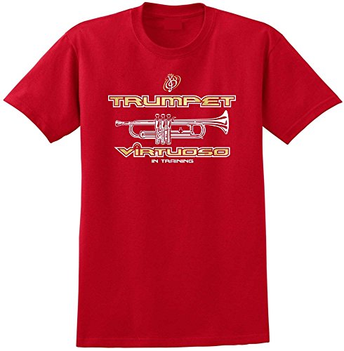 Trumpet Virtuoso - Red Rot T Shirt Größe 87cm 36in Small MusicaliTee