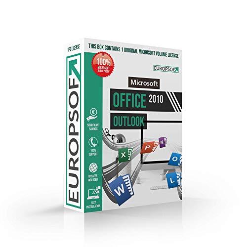 Microsoft® Outlook 2010 DVD mit original Lizenz. Europsoft Box. Papiere & Zertifikate. Alle Sprachen 32 & 64bit