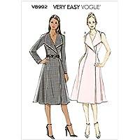 Vogue Patterns V8992 F5 - Patrones de costura para vestidos (tallas 16-24)