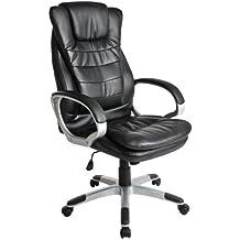 tectake silla ejecutiva de diseo silla giratoria silla de oficina silln cuero sinttico