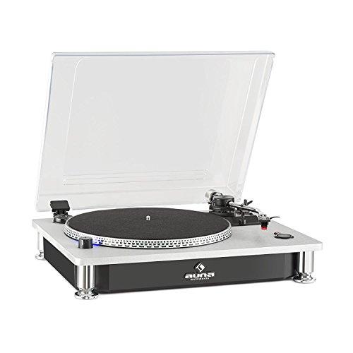 auna TT 933 • Plattenspieler • Schallplattenspieler • Riemenantrieb • Pitch-Control zum Feinjustieren • 33 und 45 U/min. • austauschbares Tonabnehmersystem • 2 x Line-Out • schwarz