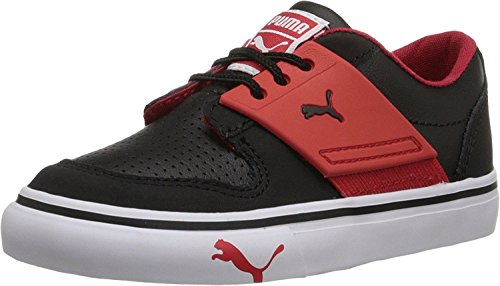 Puma 353075 Kids El Ace 2 Sneakers, Black/High Risk Red - 7 (Puma El Sneaker 2 Ace)
