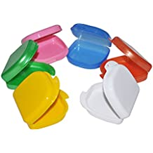 NAttnJf Portátil No tóxico Durable Estuche de almacenamiento de prótesis dental Caja de almacenamiento de prótesis