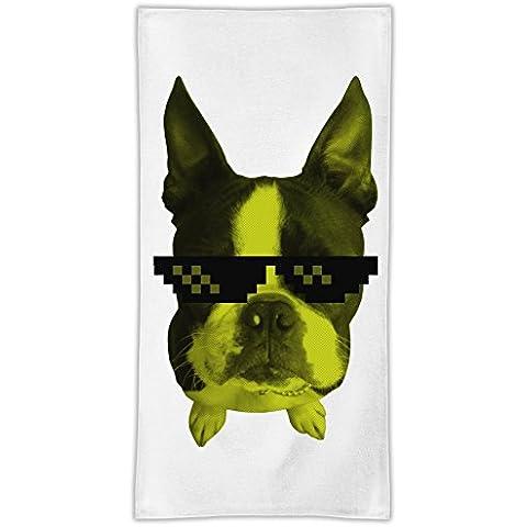 Swag Dog Asciugamano in microfibra MicroFiber Towel W/ Custom Printed Designs| Eco-Friendly Material| Machine Washable| 50x100 cm | Premium Bathroom Supplies By 50x100 cm Hamerson