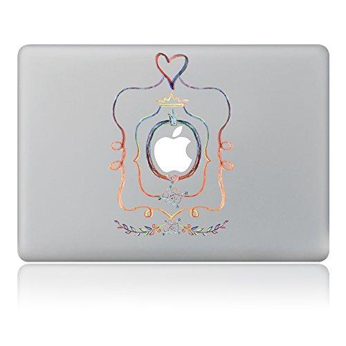 caroki Blossom Abnehmbare Vinyl Aufkleber Aufkleber Skin für Apple MacBook Flower Frame 33 cm (13 Zoll)