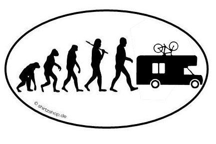 Caravan Camper Wohnmobil Evolution Aufkleber Autoaufkleber Sticker Vinylaufkleber Decal