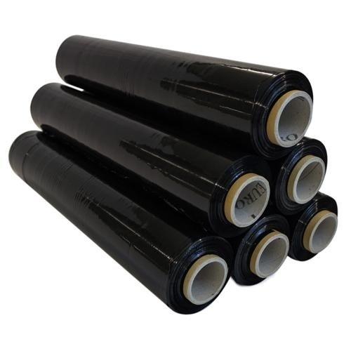 Preisvergleich Produktbild 3 Rollen Stretchfolie 300 lfm Schwarz 500 mm 20 my Wickelfolie