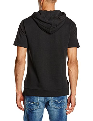 Carrera Jeans Herren Schlafanzugoberteile Jersey, Manica Corta, Con Cappuccio, Oversize schwarz (899  nero)