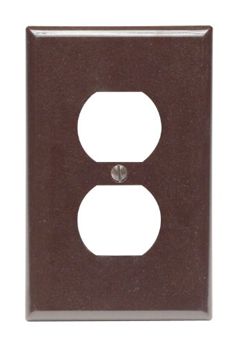 Leviton 80503 Mid-Way Outlet Wall Plate-BRN OUTLET WALL PLATE