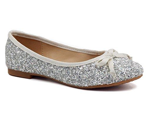 Greatonu ,  Ballerine Bambina, argento (argento), 32 EU
