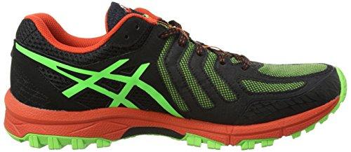 Asics Gel-fujiattack 5, Chaussures de Running Compétition homme Vert (green Gecko/black/orange 8590)