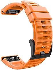 MoKo 22mm Breedte Band Compatibel met Garmin Fenix 6/6 Pro/5/5 Plus/Forerunner 935/Forerunner 945/Approach S60/Quatix 5, Zac