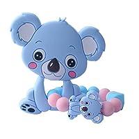 HNDHUI 1 Set Child Baby Pacifier Teether Bracelet Soothing Boys Girls Cute Koala Colorful Design Kids Comfort Supplies