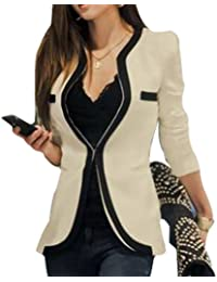 Coffeetime-Fashion Temperament Spell Farbe Langarm Slim Small Blazer