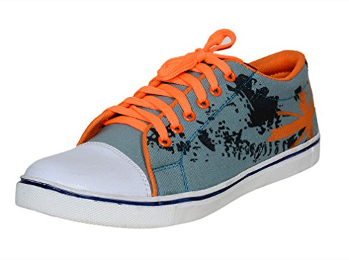 8. Red Rose Men's Funky Stylish Casual Shoes (9, Orange)