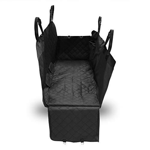 Universal Waterproof Antislip Car Pet Back Seat Cover Pad Mat Seat Cushion Black Chuck Oxford