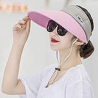 FHTD Sombrero Al Aire Libre Señoras Sombrero De Copa Vacío Sombrero De Sol Gorra,Graypowder