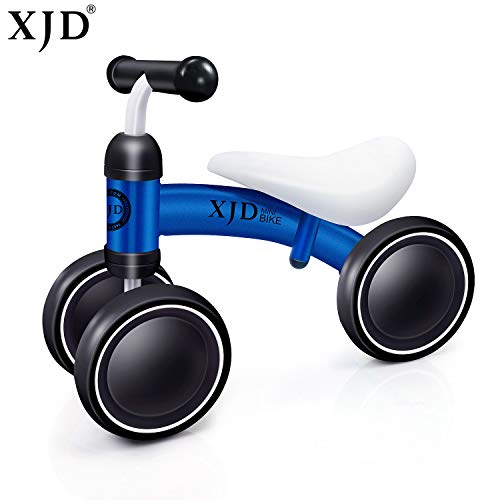 XJD Baby Balance Bike Toddler Trike Baby Bicycle Baby Walker Age 10-24 Months No Foot Pedal Infant Three Wheels Toddler Tricycle ride on Toys first birthday gift 1-2 Years Old Boys Girls?blue?