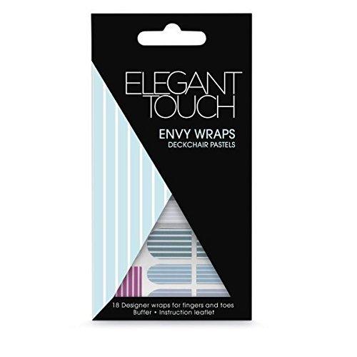 Elegant Touch Ongle Envy Emballages - Chaise Longue Pastels (18 Designer Emballages) - TRANSATLANTIQUE pastels, Taille Unique
