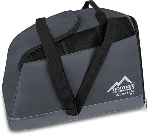 normani Outdoor Sports Skischuhtasche mit separatem Helmfach und Schuhfach - wasserdichter 45 Liter Alpine Mountain Boden Farbe Anthrazit