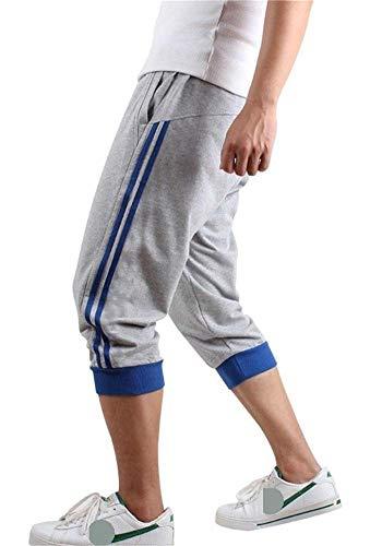 Hooleeger 3/4 Hose Herren Jogginghose Trainingshose Oversize Sporthose Capri Hose -