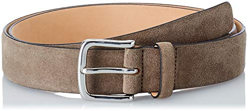 Hackett London Herren Suede Belt Gürtel, (Taupe), 34W London Suede