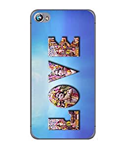 PrintVisa Tue Love High Gloss Designer Back Case Cover for Micromax Canvas Fire 4 A107