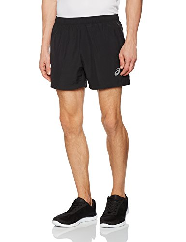 Asics Split, Pantalones Cortos para Hombre, Negro, M