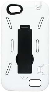 Aimo Wireless HTCONEVPCMX018S Guerilla Armor Hybrid Case with Kickstand for HTC One V - White/Black