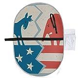 Demokrat esel versus republikanischer elefant politisch waschbar windelunterlage bunt wickelunterlage 27x10 zoll wasserdicht faltbare matte baby tragbare wickelstation wickelunterlage tragba