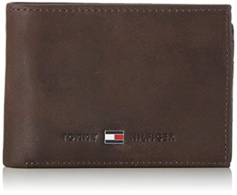 Tommy Hilfiger JOHNSON MINI CC FLAP AND COIN POCKET AM0AM00662 Herren Geldbörsen 11x8x2 cm (B x H x T), Braun (Brown 041)