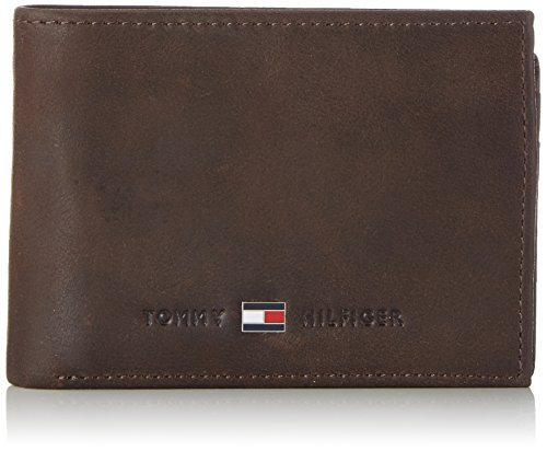 Tommy Hilfiger JOHNSON MINI CC FLAP AND COIN POCKET AM0AM00662 Herren Geldbörsen 11x8x2 cm (B x H x T), Braun (Brown (Tommy Geldbörsen)